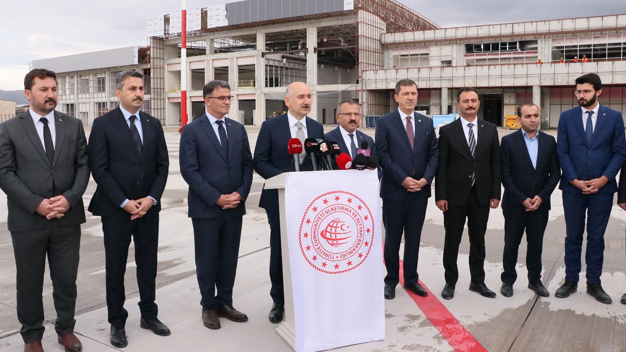 Bakan Karaismailoğlu: Tokat Havalimanı'nın altyapı işlerini bitirdik
