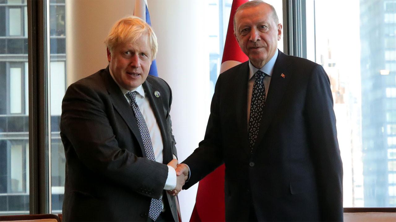 Cumhurbaşkanı Erdoğan, Boris Johnson'ı kabul etti