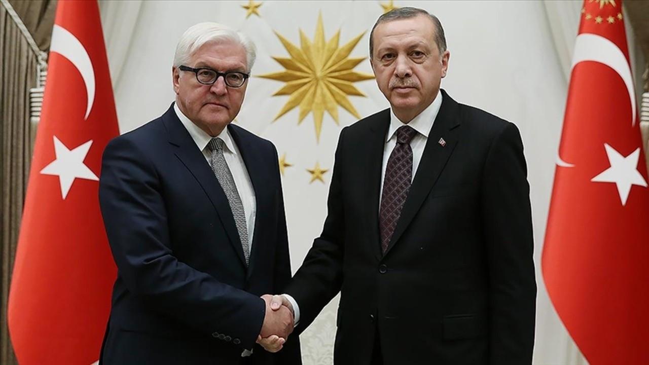 Erdoğan, Almanya Cumhurbaşkanı Steinmeier ile görüştü