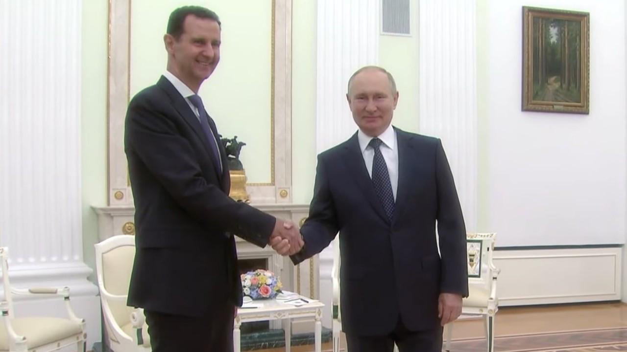 Putin, Esad'la Moskova'da bir araya geldi