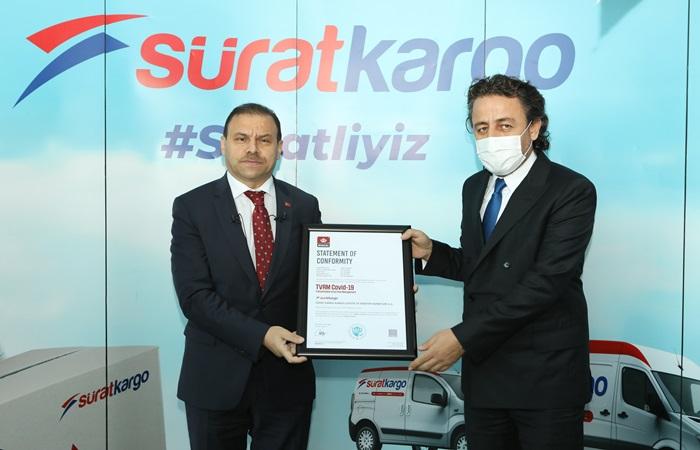Sürat Kargo, TVRM Covid-19 sertifikasını alan ilk kargo şirketi oldu