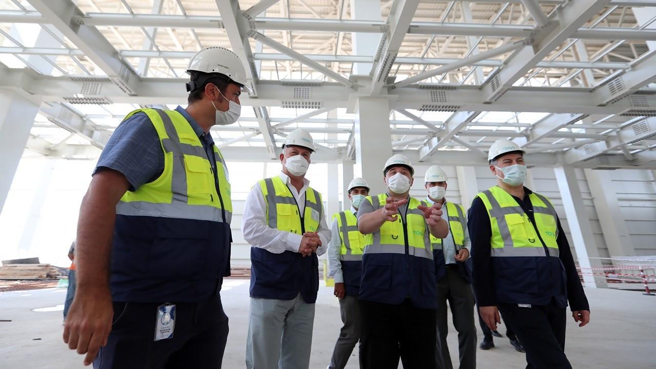 TOGG Gemlik tesisinde kapalı alanın yüzde 70'inde inşaat tamamlandı