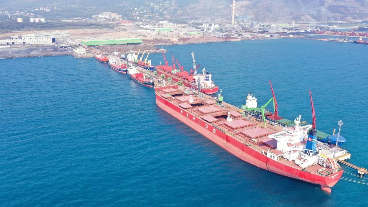 Tosyalı İskenderun Limanı'nda 1 milyon tonu aşkın elleçleme